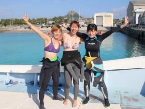 大阪からの女子3人組ダイバー