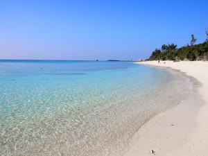2014年元旦の伊江島のビーチ