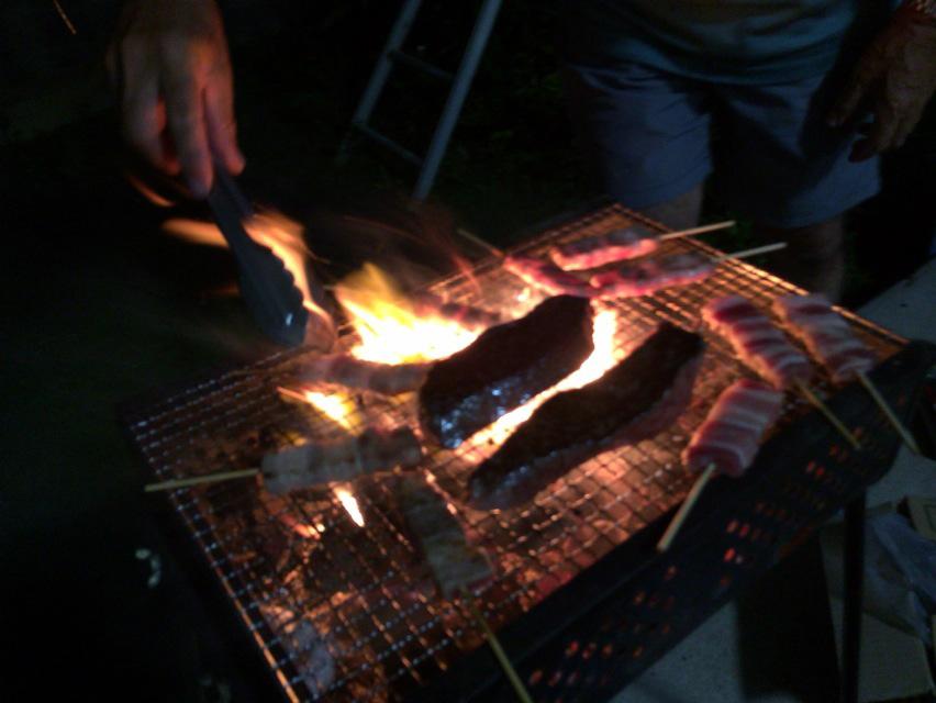 伊江牛ステーキのバーベキュー
