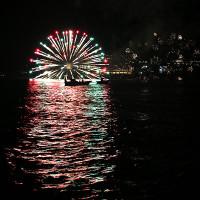 海洋博花火大会2014 半水面の花火