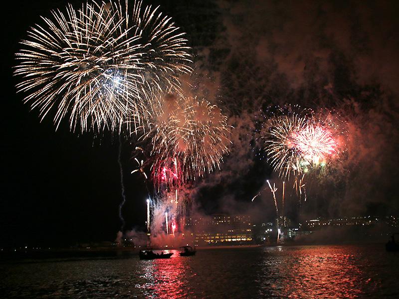 海洋博花火大会2014 連発花火