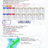 伊江島フェリーのネット予約画面