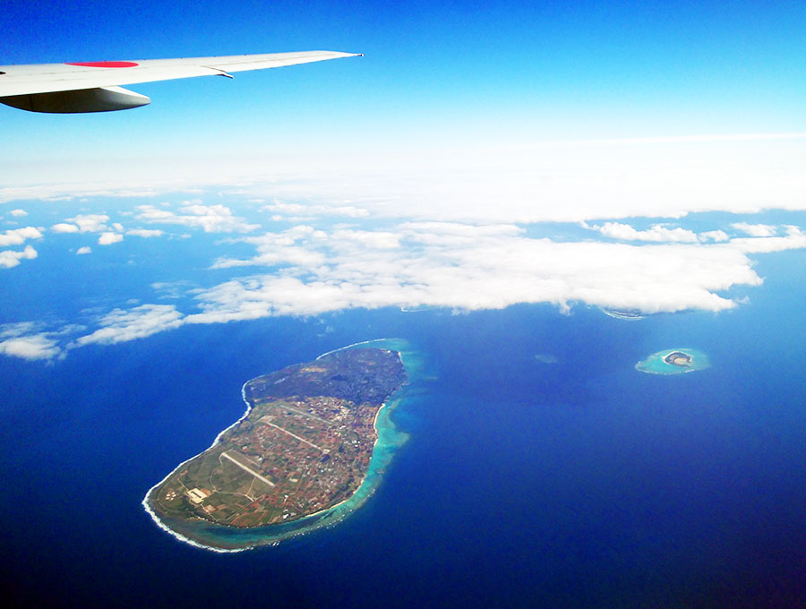 空から見た伊江島