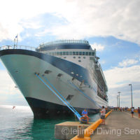 カリブ海のクルーズ船