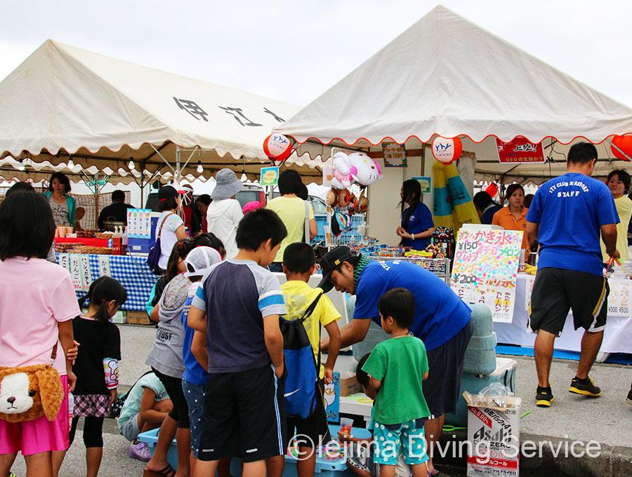 伊江島海神祭の出店