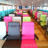 伊江島フェリー「ぐすく」の椅子席