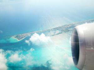 飛行機から見えたイスラ・ムヘーレス島