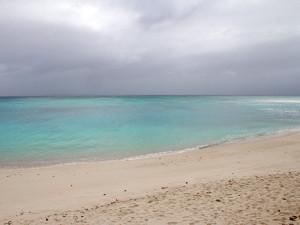 台風接近中でもダイビング出来そうなビーチ