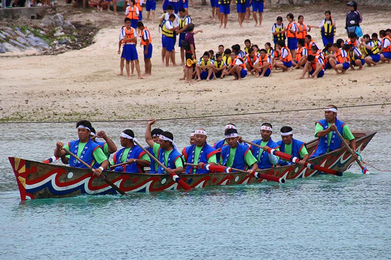 伊江島海神祭 本バーリー開始前