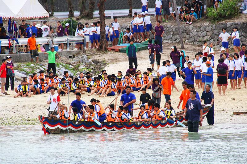 伊江島海神祭 中学生準備