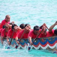 伊江島海神祭2013年 海人のハーリー
