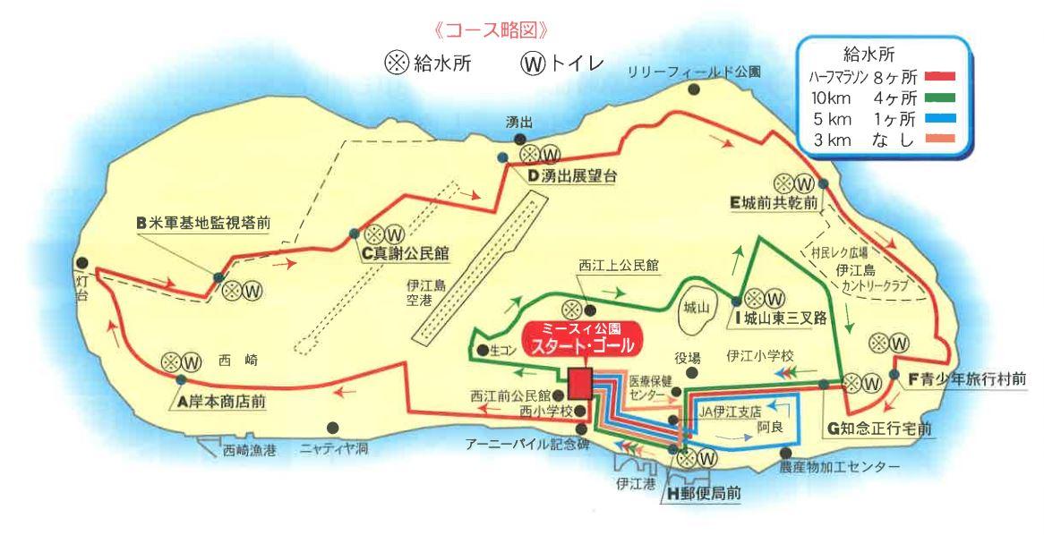 第24回 伊江島一周マラソン大会コース