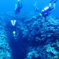 伊江島のポイントオホバNo.1の縦穴