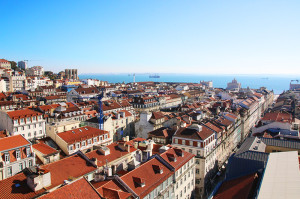 ポルトガルの首都リスボンの街並み