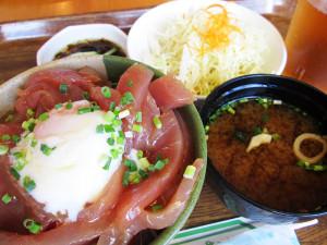 海人食堂のまぐろユッケ丼(小)500円